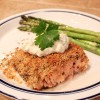 Crusted Salmon with Herb Sauce
